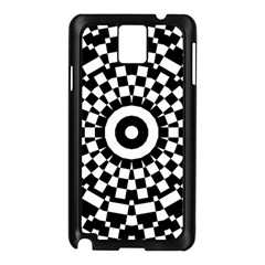 Checkered Black White Tile Mosaic Pattern Samsung Galaxy Note 3 N9005 Case (black) by CrypticFragmentsColors