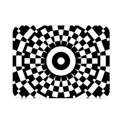 Checkered Black White Tile Mosaic Pattern Double Sided Flano Blanket (mini)  by CrypticFragmentsColors