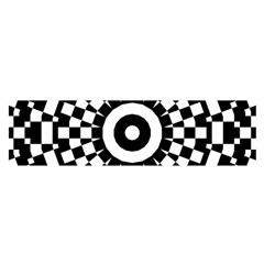 Checkered Black White Tile Mosaic Pattern Satin Scarf (oblong) by CrypticFragmentsColors