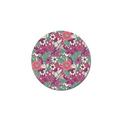 Seamless Floral Pattern Background Golf Ball Marker by TastefulDesigns