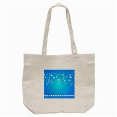 Blue Dot Star Tote Bag (Cream) by Simbadda
