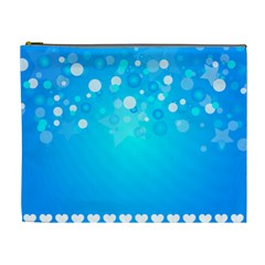 Blue Dot Star Cosmetic Bag (xl) by Simbadda
