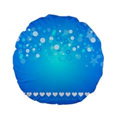 Blue Dot Star Standard 15  Premium Flano Round Cushions by Simbadda