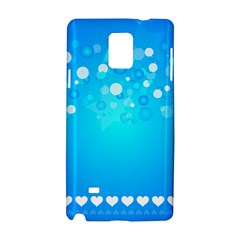 Blue Dot Star Samsung Galaxy Note 4 Hardshell Case by Simbadda