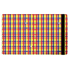 Yellow Blue Red Lines Color Pattern Apple iPad 2 Flip Case by Simbadda