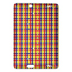 Yellow Blue Red Lines Color Pattern Amazon Kindle Fire Hd (2013) Hardshell Case by Simbadda