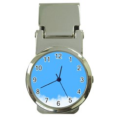 Blue Sky Clouds Day Money Clip Watches by Simbadda