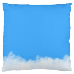 Blue Sky Clouds Day Large Cushion Case (two Sides) by Simbadda