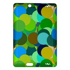 Green Aqua Teal Abstract Circles Amazon Kindle Fire Hd (2013) Hardshell Case by Simbadda