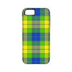 Spring Plaid Yellow Apple Iphone 5 Classic Hardshell Case (pc+silicone) by Simbadda