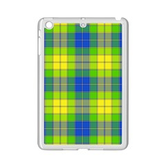 Spring Plaid Yellow Ipad Mini 2 Enamel Coated Cases by Simbadda