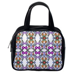 Floral Ornament Baby Girl Design Classic Handbags (one Side) by Simbadda