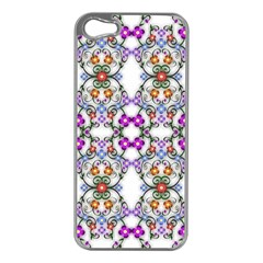 Floral Ornament Baby Girl Design Apple Iphone 5 Case (silver) by Simbadda