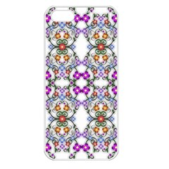 Floral Ornament Baby Girl Design Apple Iphone 5 Seamless Case (white) by Simbadda