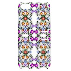 Floral Ornament Baby Girl Design Apple Iphone 5 Hardshell Case With Stand by Simbadda