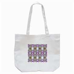 Floral Ornament Baby Girl Design Tote Bag (white) by Simbadda