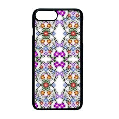 Floral Ornament Baby Girl Design Apple Iphone 7 Plus Seamless Case (black) by Simbadda