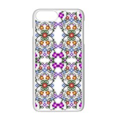 Floral Ornament Baby Girl Design Apple Iphone 7 Plus White Seamless Case by Simbadda
