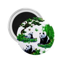 Cute Panda Cartoon 2 25  Magnets by Simbadda