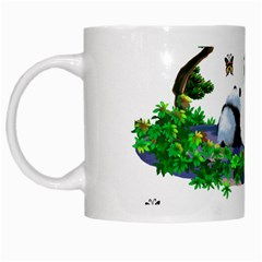 Cute Panda Cartoon White Mugs by Simbadda