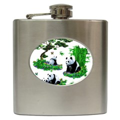Cute Panda Cartoon Hip Flask (6 Oz) by Simbadda