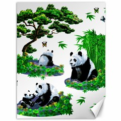 Cute Panda Cartoon Canvas 36  X 48   by Simbadda