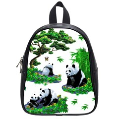 Cute Panda Cartoon School Bags (small)  by Simbadda