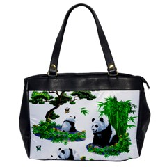 Cute Panda Cartoon Office Handbags by Simbadda