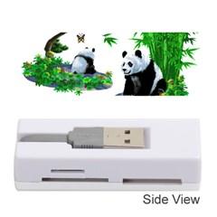 Cute Panda Cartoon Memory Card Reader (stick)  by Simbadda