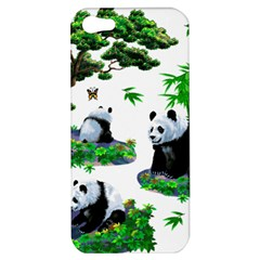 Cute Panda Cartoon Apple Iphone 5 Hardshell Case by Simbadda