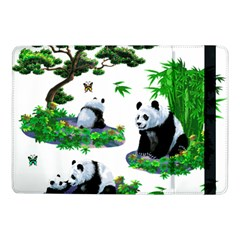 Cute Panda Cartoon Samsung Galaxy Tab Pro 10 1  Flip Case by Simbadda