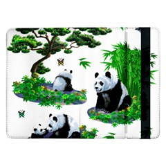 Cute Panda Cartoon Samsung Galaxy Tab Pro 12 2  Flip Case by Simbadda