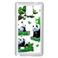 Cute Panda Cartoon Samsung Galaxy Note 4 Case (white) by Simbadda