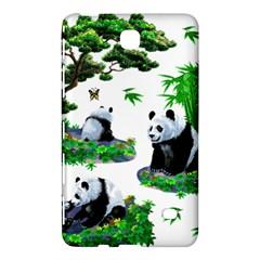 Cute Panda Cartoon Samsung Galaxy Tab 4 (8 ) Hardshell Case  by Simbadda