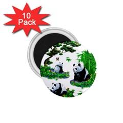 Cute Panda Cartoon 1 75  Magnets (10 Pack)  by Simbadda