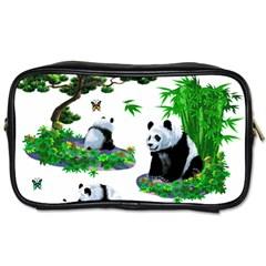 Cute Panda Cartoon Toiletries Bags by Simbadda
