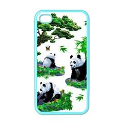 Cute Panda Cartoon Apple Iphone 4 Case (color) by Simbadda