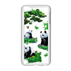 Cute Panda Cartoon Apple Ipod Touch 5 Case (white) by Simbadda