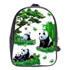 Cute Panda Cartoon School Bags (xl)  by Simbadda