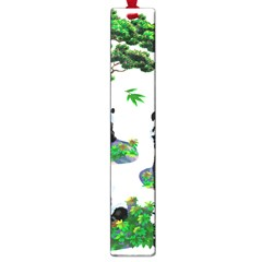 Cute Panda Cartoon Large Book Marks by Simbadda