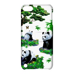Cute Panda Cartoon Apple Ipod Touch 5 Hardshell Case With Stand by Simbadda