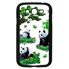 Cute Panda Cartoon Samsung Galaxy Grand Duos I9082 Case (black) by Simbadda