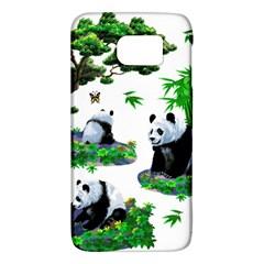 Cute Panda Cartoon Galaxy S6 by Simbadda