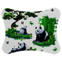Cute Panda Cartoon Jigsaw Puzzle Photo Stand (bow) by Simbadda