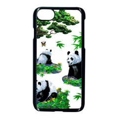 Cute Panda Cartoon Apple Iphone 7 Seamless Case (black) by Simbadda