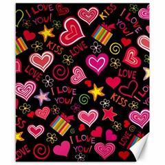 Love Hearts Sweet Vector Canvas 8  X 10  by Simbadda