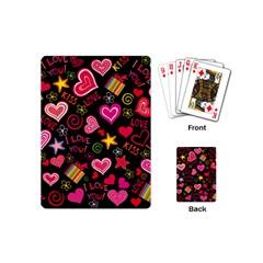 Love Hearts Sweet Vector Playing Cards (mini)  by Simbadda