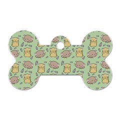Cute Hamster Pattern Dog Tag Bone (one Side) by Simbadda