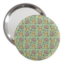 Cute Hamster Pattern 3  Handbag Mirrors by Simbadda