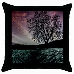 Sky Landscape Nature Clouds Throw Pillow Case (black) by Simbadda